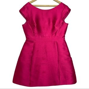 Kate Spade Hot Pink Silk Backless Mini Dress
